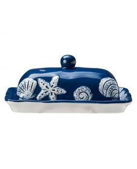 Ceramic Butter Dish-Navy