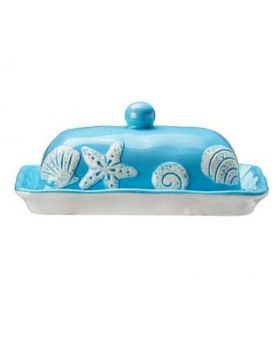 Ceramic Butter Dish-Aqua