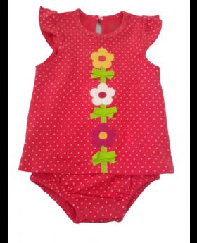 Baby Romper - Polka Dots 3M & 9M