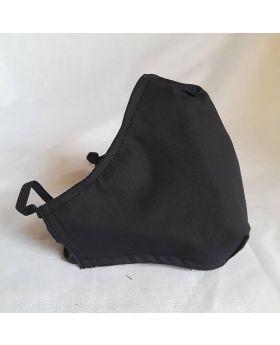 3D Reusable Cotton Face Mask Handmade 3 Layers Black