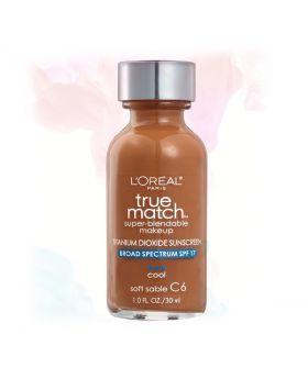 L'Oreal Paris Makeup True Match Liquid Foundation-C6