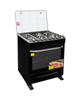 "Imperial IMP20GS-AMB-30B-STAR 30"" 5 Burner Gas Stove with Steel Top Rotisserie & Self-Light"