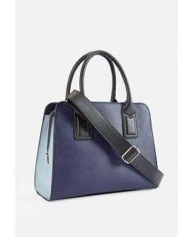 In the City Satchel Blue Multi Handbag