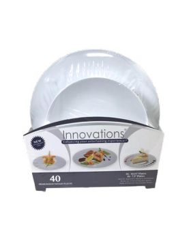 Innovations Premium Heavyweight Plastic Plates 40 Count