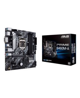 ASUS PRIME Intel® B460 (LGA 1200) mATX motherboard with Aura Sync RGB header, Dual M.2, DDR4 2933MHz, HDMI, DisplayPort, USB 3.2 Gen 1 ports, Intel® Optane memory ready, SATA 6 Gbps