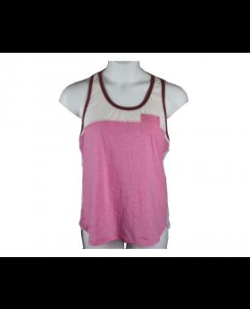 Jane & Bleecker Sleepwear Shirt Top Pajama Tank Pink L