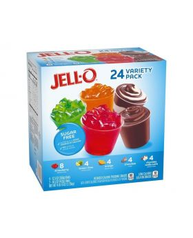 Jell-O 24 Variety Pack Pudding Snacks