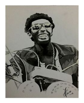Jimmy Cliff Ink Sketch (Loose Paper Print)