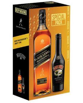 Johnnie Walker Black 1 Litre + Baileys 375 ml