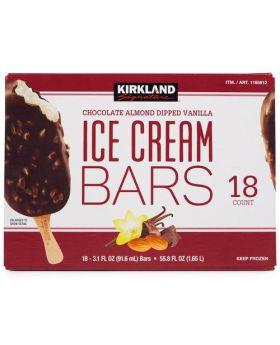 Kirkland Signature Chocolate Almond Dipped Vanilla Ice Cream Bars 18 Count