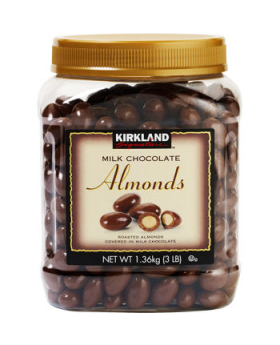 Kirkland Signature Milk Chocolate Almonds 48oz