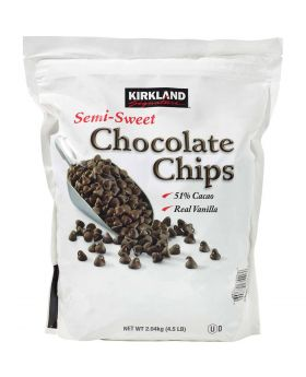 Kirkland Signature Semi-Sweet Chocolate Chips, 4.5lbs