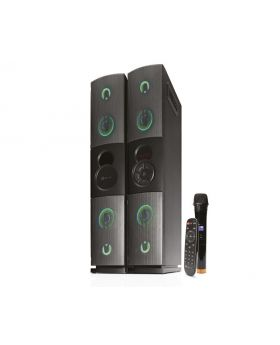 Klip Xtreme KFS-600 Duet Floorstanding Speaker with Adjustable LCD Display, Command Control and Wireless Technology