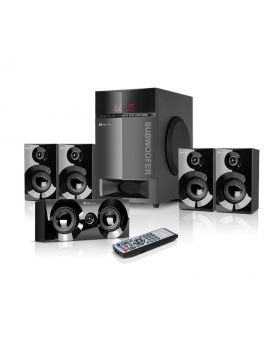 Klip Xtreme KWS-751 Mirage 5.1 Surround Sound Speaker System with Bluetooth® Wireless Technology and USB/SD Audio Playback