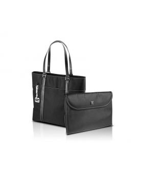 "KlipX Verona Handbag in Black up to 15.4"" (KNB-460BK)"