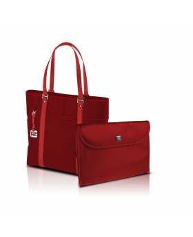"KlipX Verona Handbag in Red up to 15.4"" (KNB-460RD)"