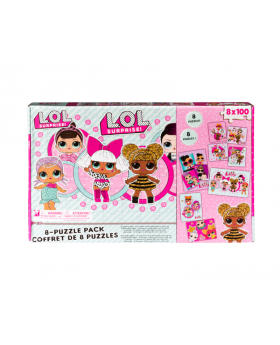 L.O.L. Surprise! 8-Pack of Jigsaw Puzzles