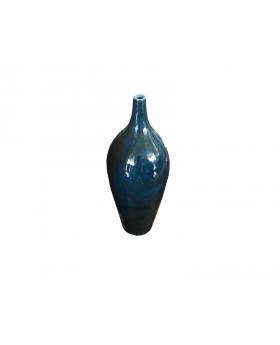 "Large Bold Chic Blue Floor Vase 34"" Tall"