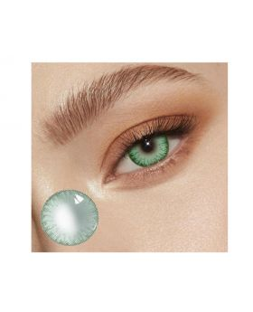Lemon Glass Colour Series Big Eyes Cute Coloured Contacts (Green)
