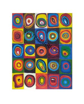 "Lilibit Creation Art Print – Abstract, Geometric, Multi-colored, 18""x20"" on Paper"