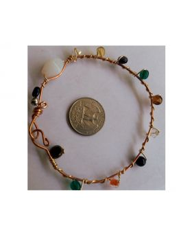Lilibit Creation Bracelet – Copper Wire Beaded with Hooked End