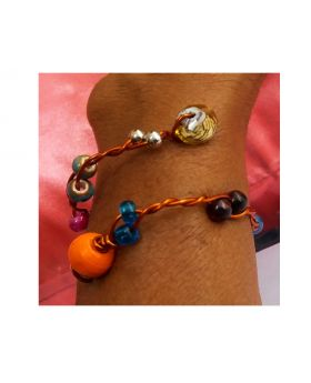 Lilibit Creation Bracelet – Double Copper Wire Twisted and Beaded