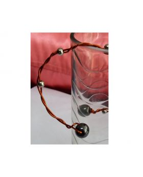 Lilibit Creation Bracelet – Double Copper Wire Twisted with Silver Bead Inserts