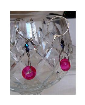 Lilibit Creation Earrings – Drop Earrings in Delicate Rose Pink
