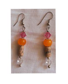 Lilibit Creation Earrings –Drop Earrings in Orange