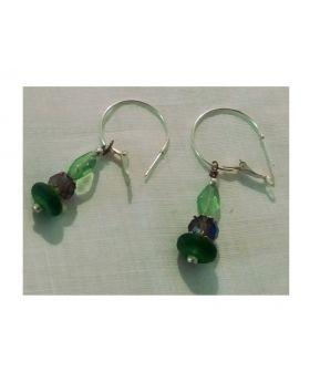 Lilibit Creation Earrings – Green Sea Glass Drop Earrings