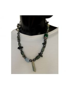 Lilibit Creation Necklace Bohemian Design Necklace from Quartz and Mixes of other Natural Stone, One of a kind