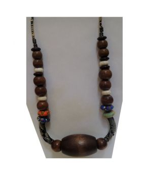 Lilibit Creation Necklace Elaborately, Unusual, Spectacular Necklace in Wood, Silver and More - One of a Kind