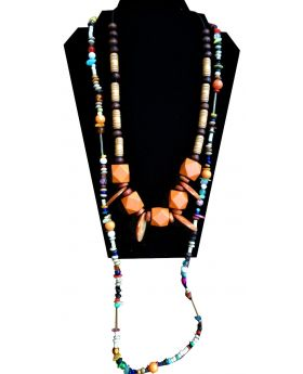 Lilibit Creation Necklace Multi-colour, Multi-string, Visually Striking - One of a Kind