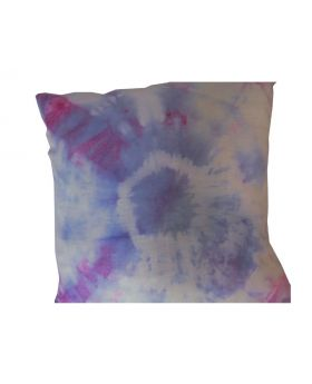 Lilibit Creations Craft Cushions – Tie-Dyed in Blue & Red Linen Cushion for the Bedroom