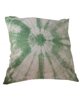 Lilibit Creations Craft Cushions – Tie-Dyed in Green Linen Cushion for the Bedroom