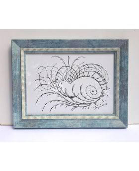 Line Bunny Creative Drawing Framed