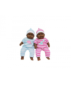 "Lots to Cuddle Babies 13"" Twins African American Soft Body Baby Dolls"