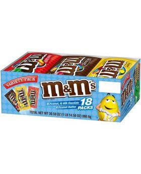 M&M Variety Pack Chocolates 30 Count