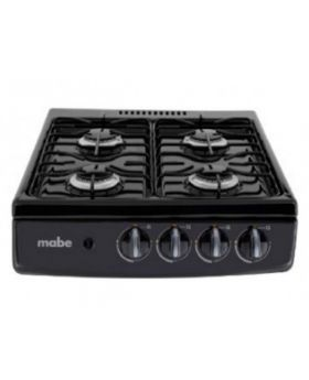 "Mabe 20"" Gas Cooktop in Black with 4 Burners"