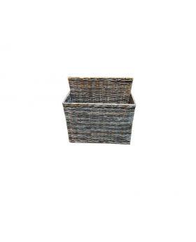 Woven wicker magazine basket - Decorative home accent