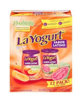 La Yogurt Probiotic Mango & Guava Blended Lowfat Yogurt, 12pk/6oz