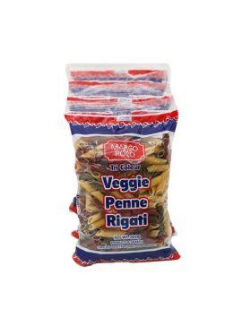 Marco Polo Tricolor Veggie Penne Rigati Pasta 350g 4 Pack