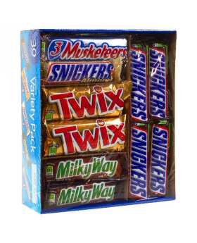 Mars Chocolate Variety Pack 30 Count