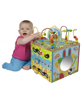 Maxville Wooden Activity Cube