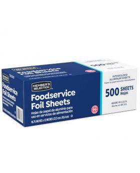 Member's Selection Aluminum Foil Sheets 500 Sheets