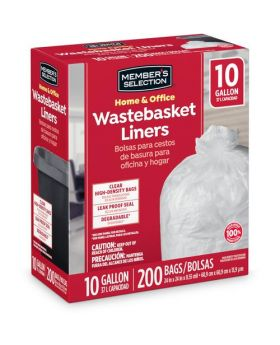 Member's Selection Home & Office Wastebasket Liners 10 Gallon
