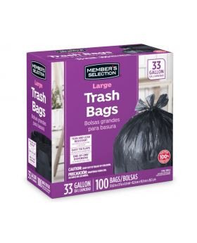 Member's Selection Large Trash Bags 33 Gallon