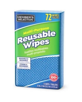 Member's Selection Multi-Purpose Reusable Wipes 72 Count