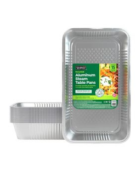Member's Selection Recycled Aluminum Steam Table Pans 15 Pack