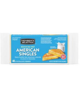 Member's Selection Reduced Fat American Cheese Singles 48 Count